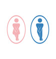 girls and boys restroom pictograms funny toilet vector image