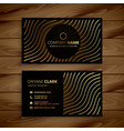 golden premium business card template vector image vector image