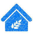 grain warehouse icon grunge watermark vector image vector image