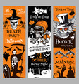halloween banners for holiday horror night vector image vector image