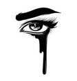 hand drawn womans eye isolated vector image vector image