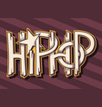hip hop artistic custom graffiti style labe vector image
