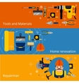 Home repairs and renovation banners vector image vector image