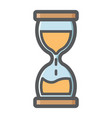 hourglass colorful line icon business deadline vector image