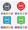 In pack 100 sheets sign icon 100 papers symbol vector image vector image