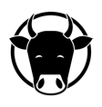 Indian cow head vector image vector image