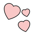 isolated three hearts vector image