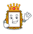 king picture frame mascot cartoon vector image