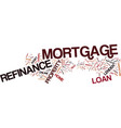 learn about refinance mortgage text background vector image vector image