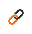 link icon hyperlink chain symbol on white vector image vector image