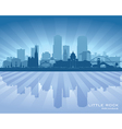 Little Rock Arkansas city skyline silhouette vector image vector image