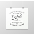 Love Quote Typographical Background vector image vector image