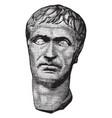 Lucius cornelius sulla felix a sculpture of the vector image