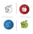measuring tape around apple icon vector image