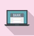 online bank icon flat style vector image vector image