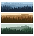 Outdoor mountain landscape banners vector image