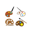 painting palette icon set design template vector image