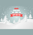 paper art style snowflake and tree for christmas vector image vector image