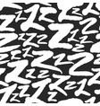 pattern with calligraphy letters z vector image vector image