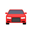 pixel art car front view sport car 8 bit vector image