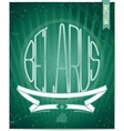 Poster welcome to Belarus with ornament vector image vector image