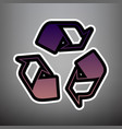 recycle logo concept violet gradient icon vector image
