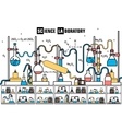 Retro set science experiment equipment in a vector image vector image