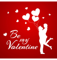 Romantic background with couple vector image