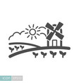 rural landscape with windmill icon vector image