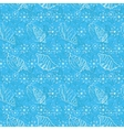 Seamless background outline seashells vector image vector image
