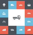 set of 13 editable transport icons includes vector image vector image