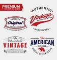set premium apparel t-shirt design vector image vector image
