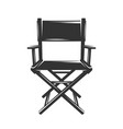 silhouette producer chair isolated on white vector image