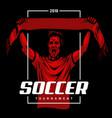 soccer fan poster vector image