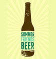 summer beer typographic vintage grunge poster vector image vector image