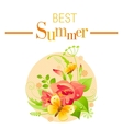Summer icon with nature elements - gladiolus vector image vector image