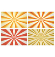 sunburst stripes patterns vector image vector image