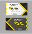 taxi card for taxi-drivers taxi service vector image vector image