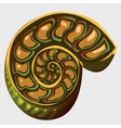 the ancient Ammonite vector image