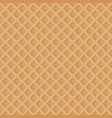 the texture of the waffles seamless pattern vector image vector image
