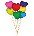 Valentine Heart Balloons vector image vector image