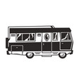 vintage recreation truck or motorhome template vector image vector image