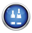 Wine and champagne bottles icon vector image vector image