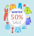 winter sale clothing and accessories vector image