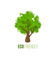 Eco friendly sign with green tree vector image