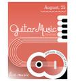 guitar music poster template design vector image