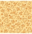 Cookies colors christmas seamless pattern vector image
