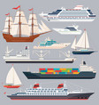 sea transportation of ships vector image