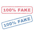 100 percent fake textile stamps vector image vector image