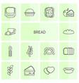 14 bread icons vector image vector image